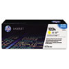 Q3972A (HP 123A) Toner Cartridge, 2000 Page-Yield, Yellow