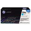 Q6001A (HP 124A) Toner Cartridge, 2000 Page-Yield, Cyan