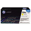 Q6002A (HP 124A) Toner Cartridge, 2000 Page-Yield, Yellow