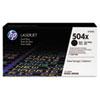 CE250XD High-Yield Toner, 10,500 Page-Yield, Black, 2/Pk