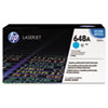 CE261A (HP 648A) Toner Cartridge, 11,000 Page-Yield, Cyan