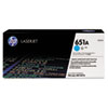 CE341A, 651A, Toner, 16000 Page-Yield, Cyan