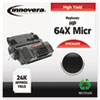C64XM Remanufactured, CC364X (64X MICR) MICR Toner, 24000 Yield, Black