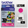 LC75M (LC-75M) Innobella High-Yield Ink, 600 Page-Yield, Magenta