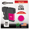 LC65M Compatible, Remanufactured, LC65M (LC65) Ink, 750 Page-Yield, Magenta