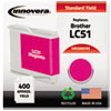 20051M Compatible, Remanufactured, LC51M Ink, 400 Page-Yield, Magenta