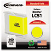20051Y Compatible, Remanufactured, LC51Y Ink, 400 Page-Yield, Yellow