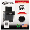 20041 Compatible, Remanufactured, LC41BK Ink, 500 Page-Yield, Black