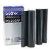 PC202RF Thermal Transfer Refill Rolls, Black, 2/Pack