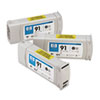 C9481A (HP 91) Vivera Ink Cartridge, 3/Pack, Photo Black