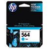 CB318WN (HP 564) Ink Cartridge, 300 Page-Yield, Cyan