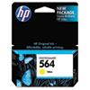 CB320WN (HP 564) Ink Cartridge, 300 Page-Yield, Yellow