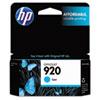 CH634AN (HP-920) Ink Cartridge, 300 Page-Yield, Cyan