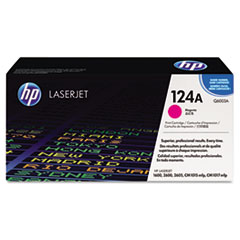 Q6003A (HP 124A) Toner Cartridge, 2000 Page-Yield, Magenta
