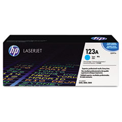 Q3971A  (HP 123A) Toner Cartridge, 2000 Page-Yield, Cyan