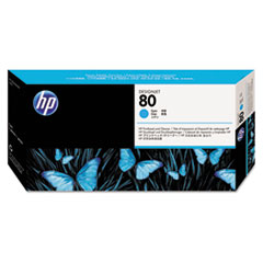 C4821A (HP80) Printhead & Cleaner, Cyan