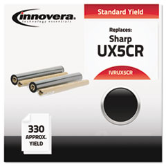 UX5CR Compatible, Remanufactured, UX5CR Thermal Transfer, 330 Yield, Black