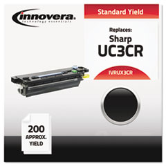 UX3CR Compatible, Remanufactured, UX3CR  Thermal Transfer, 200 Yield, Black