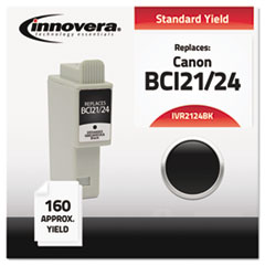 2124BK Compatible, 6881A003AA (BCI24BK) Ink, 200 Page-Yield, Black