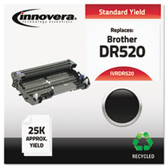 DR520 Compatible, Remanufactured, DR520 Drum Unit, 25000 Page-Yield, Black