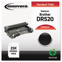 DR520 Compatible, Remanufactured, DR520 Drum Unit, 25000 Page-Yield, Black