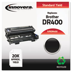 DR400 Compatible, Remanufactured, DR400 Drum Cartridge, 20000 Page-Yield, Black