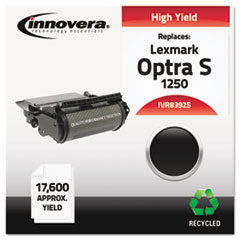 83925 Compatible, Remanufactured, 1382625 (Optra S) Toner, 17600 Yield, Black