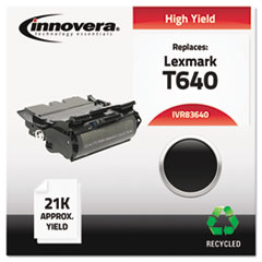 83640 Compatible, Remanufactured, 64015HA (T640) Toner, 21000 Yield, Black