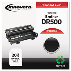 DR500 Compatible, Remanufactured, DR500 Drum Cartridge, 20000 Page-Yield, Black
