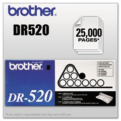 DR520 Drum Unit, 25000 Page-Yield, Black