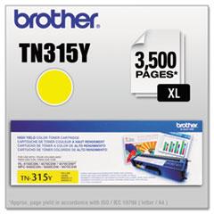 TN315Y (TN-315Y) High-Yield Toner, 3,500 Page-Yield, Yellow