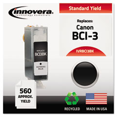 BCI3BK Compatible, Remanufactured, BCI-3BK (BCI3E) Ink, 560 Page-Yield, Black