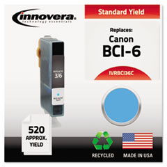 BCI36C Compatible, Remanufactured, BCI-3eC (BCI3E) Ink, 520 Yield, Cyan