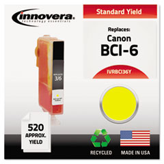 BCI36Y Compatible, Remanufactured, BCI-3EY (BCI3E) Ink, 520 Yield, Yellow