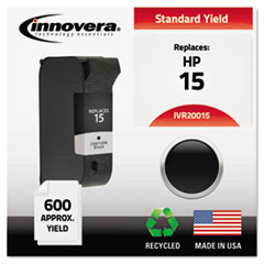 20015 Compatible, Remanufactured, C6615DN (15) Ink, 600 Page-Yield, Black
