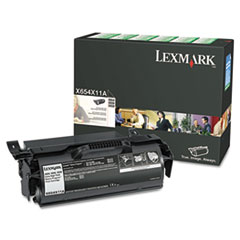 X654X11A Extra High-Yield Return Prgm Toner, 36000 Pg-Yld, Black